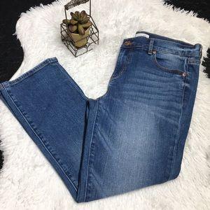 Ann Taylor Loft Modern Kick Crop Jeans Size 26